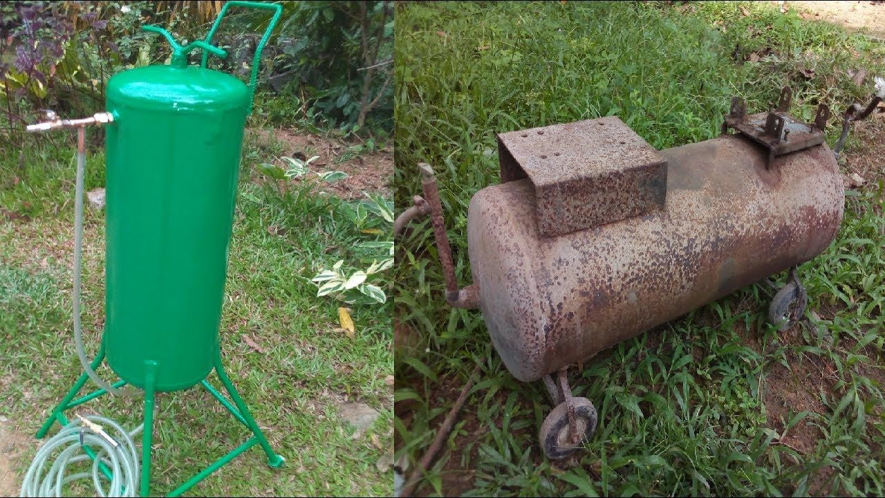 How to make Homemade Sand Blaster from old air Compressor