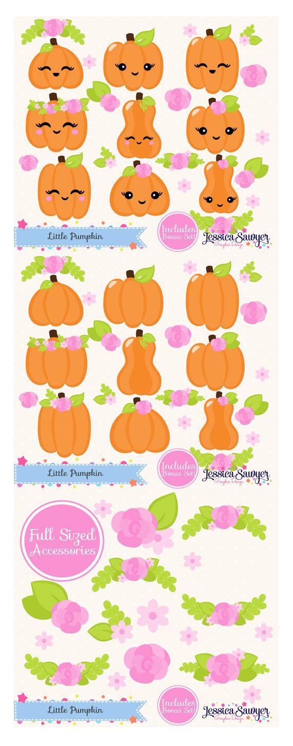 Little Pumpkin Clipart for a Little Pumpkin Party, Planner ...