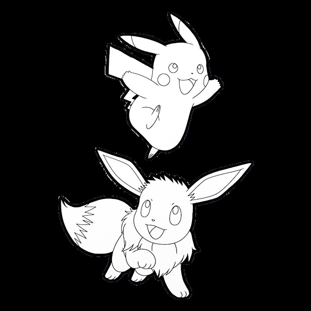 PIKACHU & EEVEE drawing paper!
