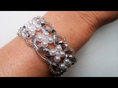 . Jewelry Making for Beginners. Elegant Evening Beaded Bracelet. - YouTube