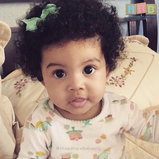 cute mexicanblack baby girl mixed biracial