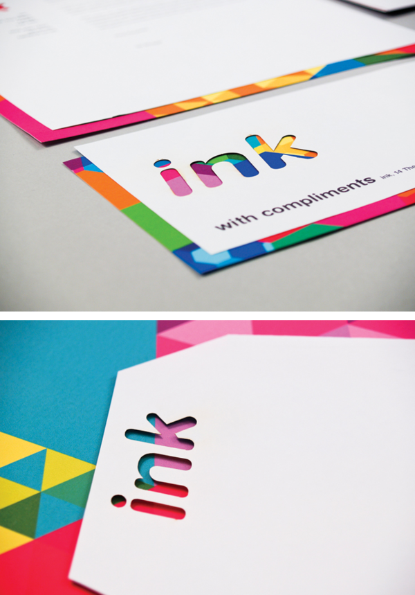 I really like the bright colors that are peeking through the cut out business cards reheart Choice Image