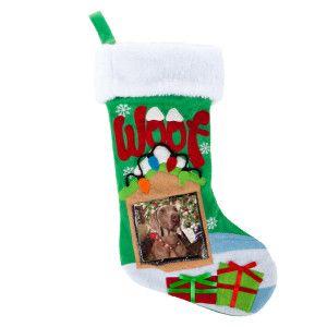 christmas stocking with photo insert