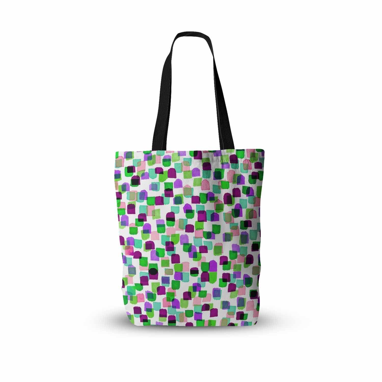 "Ebi Emporium ""Retro Mod Dots 3"" Green Purple Everything Tote Bag"