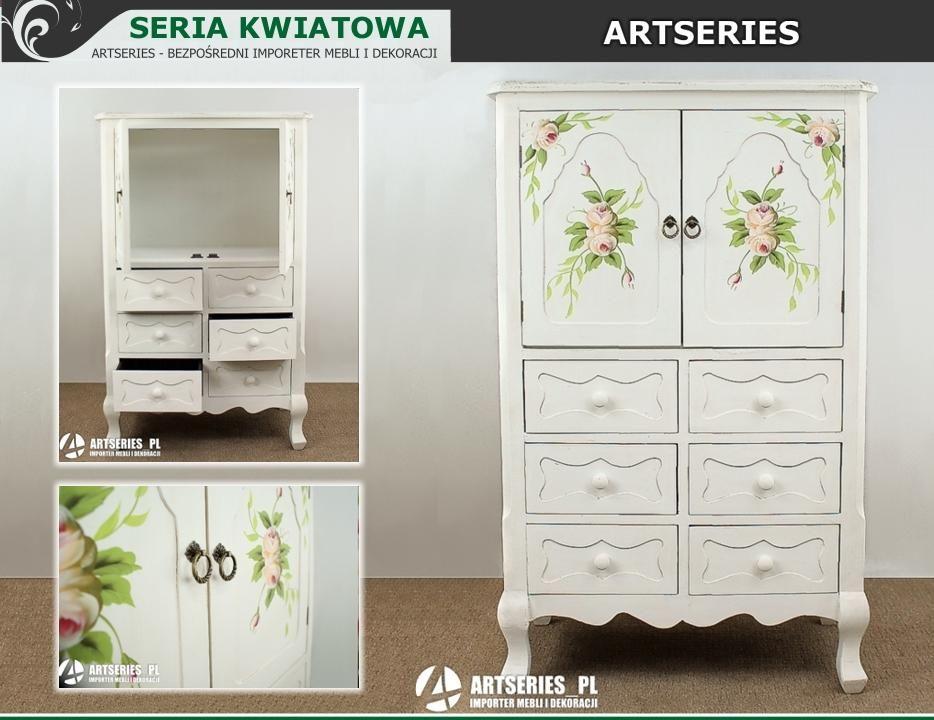 Drewniana Szafka Komoda Biala Kwiatowa Sypialnia 3268658330 Oficjalne Archiwum Allegro Home Decor Decor Furniture