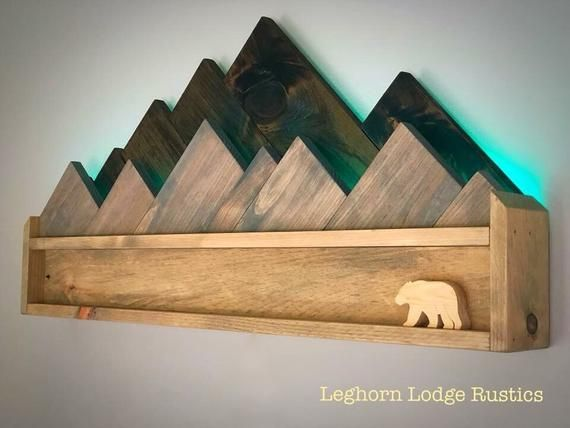 Photo of Two tier rustic wood mountain lights