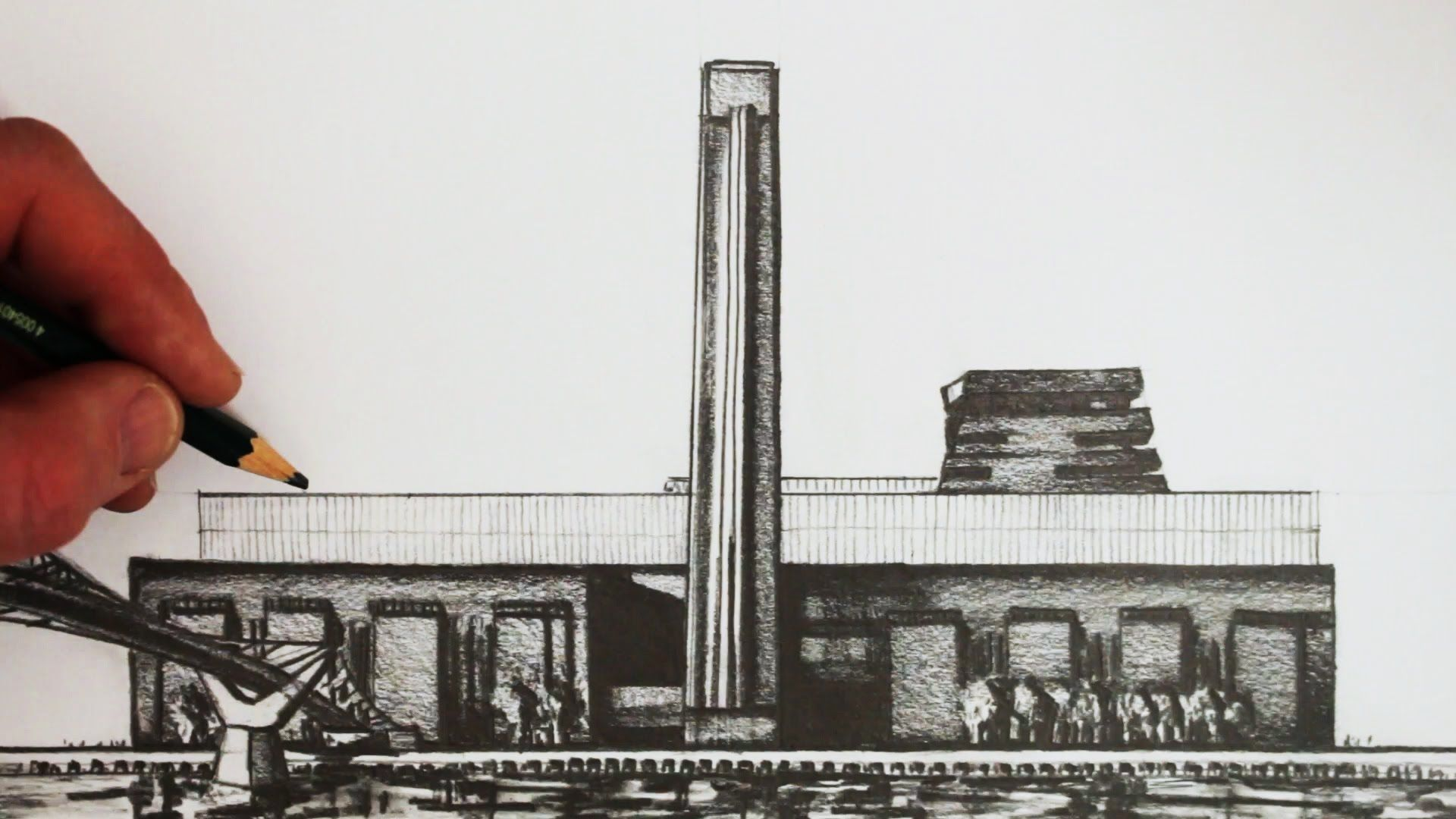 How to draw buildings tate modern london