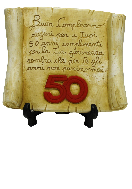 Pergamena 50 Anni Prodotti E Articoli Regalo Per Le Feste Di