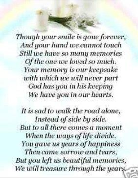 Your Smile~♡   Prayer   Grief poems, Miss my mom, Miss you mom