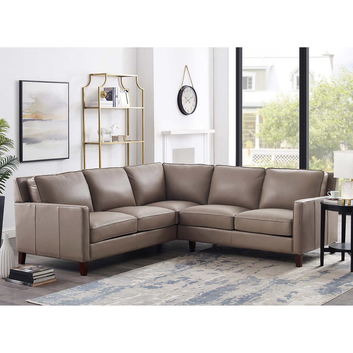West Park Leather Sectional Leather Sectional Leather Couches Living Room Leather Sectional Sofas