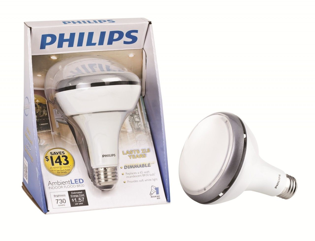 New Philips Ambientled Tm Dimmable 65w Replacement Br30 Flood Led Light Bulb Soft Warm White 420273 Led Light Bulb Led Bathroom Lights Led Track Lighting
