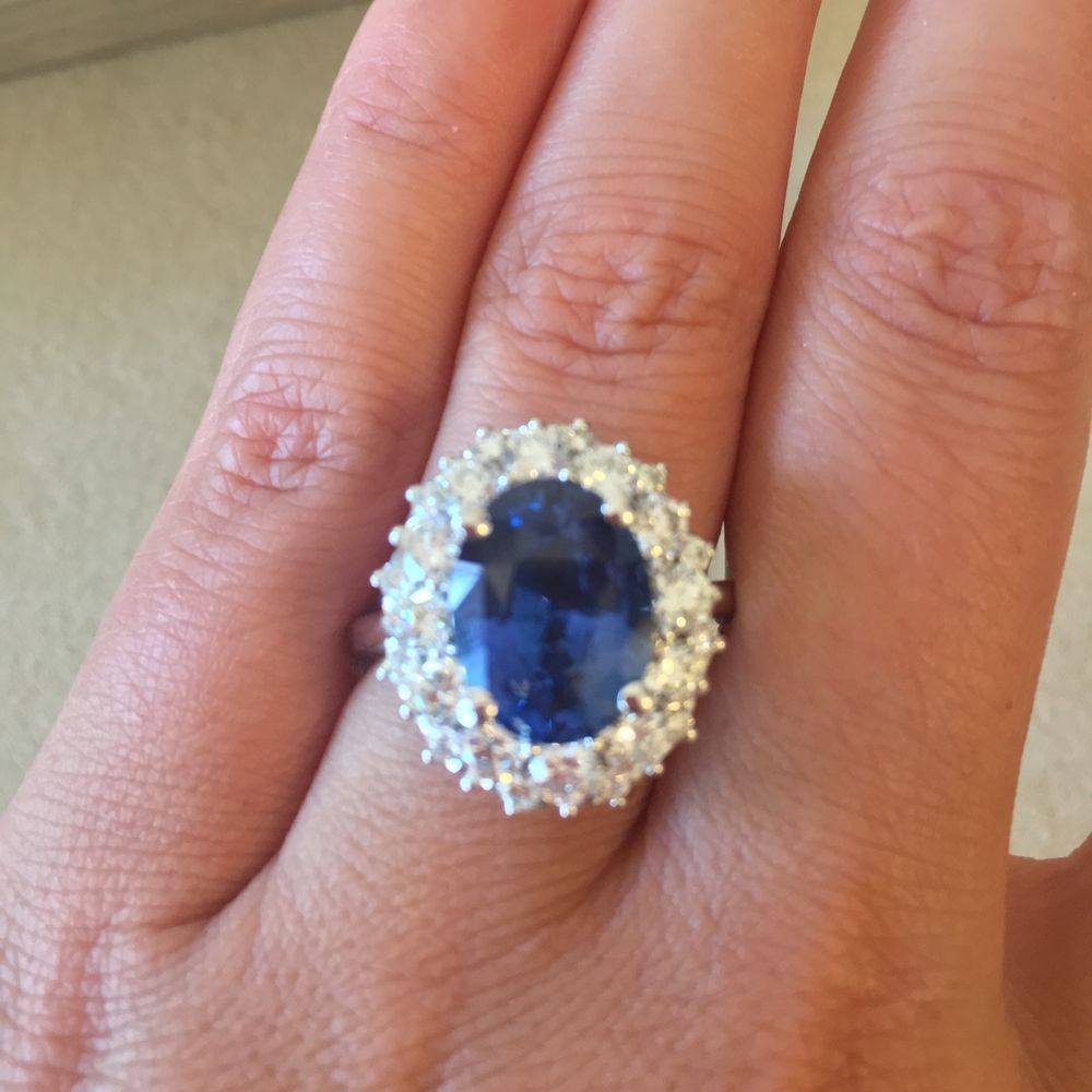 gold blue item with plated gems natural and jewelry per silver ring perfect zircons sapphire sterling real