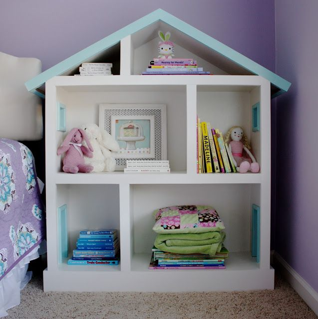 The Yellow Cape Cod Doll House Bookcase For A Kid S Room So Sweet