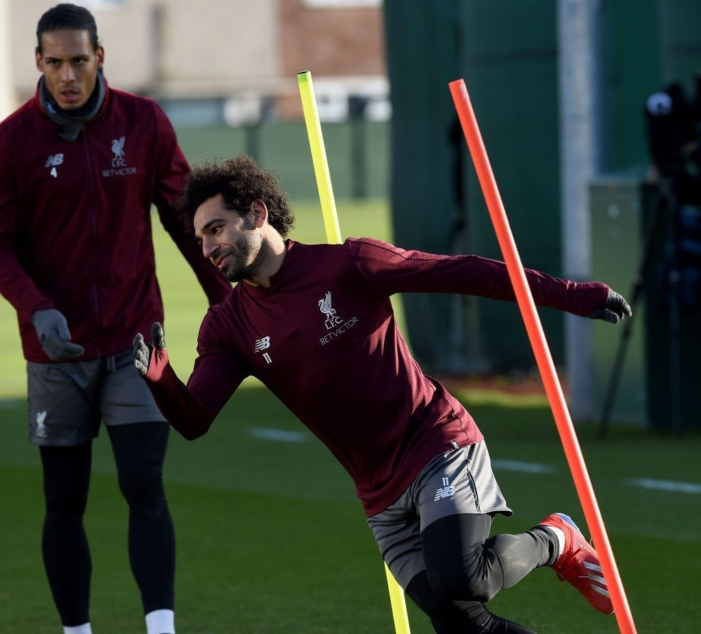 Mohamed Salah Of Liverpool During A Training Session At Melwood Training Ground On February 18 2019 In Liverpool England Mohamed Salah Salah Mo Salah