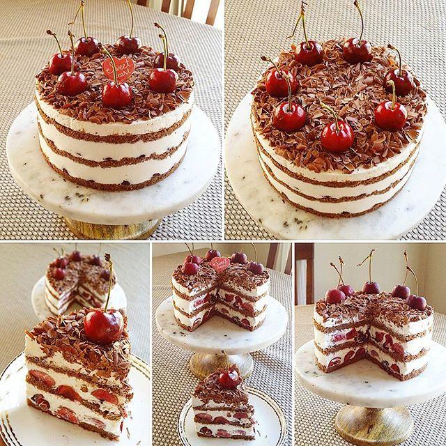 Cherry Black Forest Cake~🍒😋 #cherry #blackforest #cakeporn #blackforestcake #fruitcake #baking #homemadecake #sodelicious #soyummy #cakestagram #bakingtime #bake #dessertstagram #nomnom #homebaker #lovebaking #homebaked #instadessert #instacake #homebakery #desserttime #desserttable #sweetcake #lovetobake #sweettooth #ilovebaking #dessertporn #homebaking #dessertlover #instacake