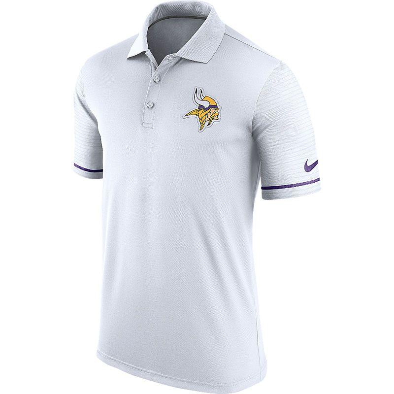 Minnesota Vikings Nike Early Season Performance Polo - White