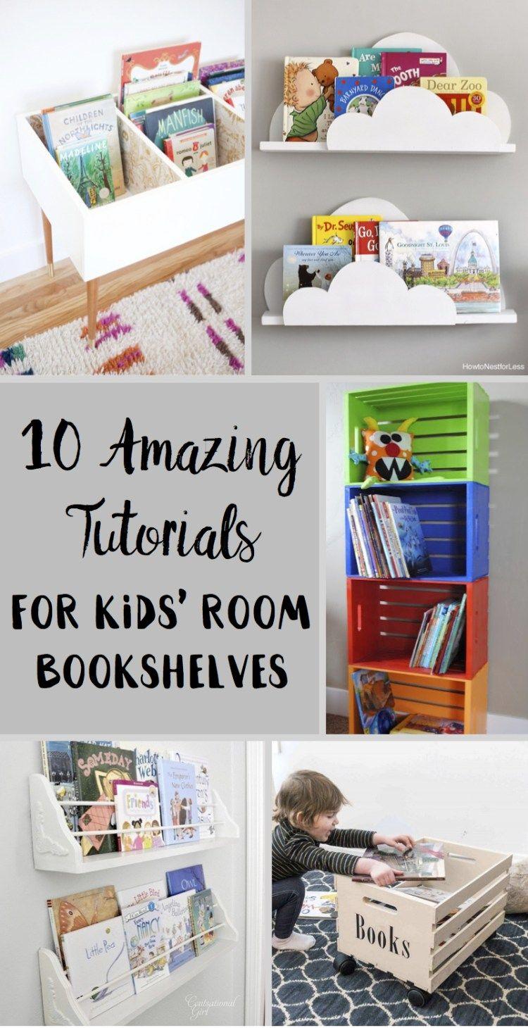 10 Amazing Tutorials For Kids Room Bookshelves Six Clever Sisters Kids Room Bookshelves Bookshelves Diy Diy Bookshelf Kids