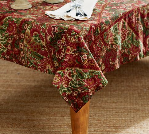 Lyndsay Paisley Tablecloth Pottery Barn Table Cloth