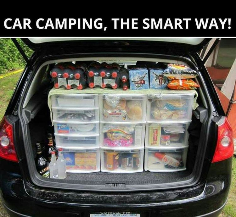 Car Camping Pantry You May Need Less Drawers But Its A Good Idea To Make Life Simple For Yourself Now Where Do I Fit The Kitchen Sink