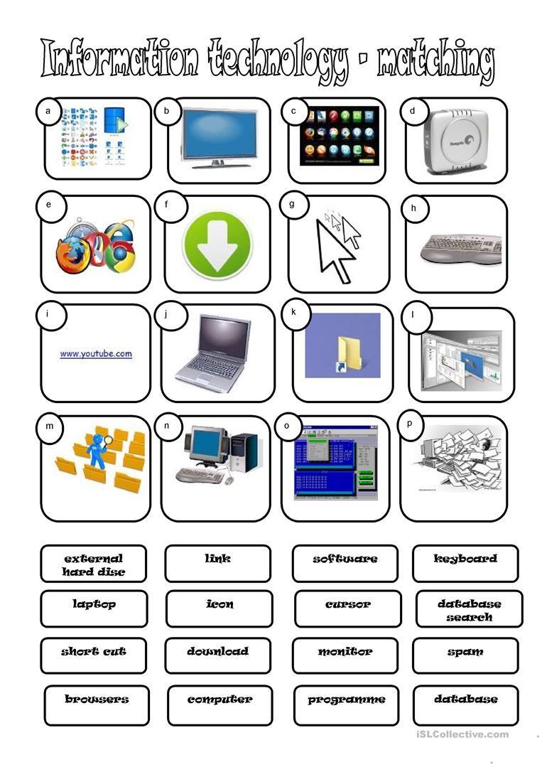 worksheet Computer Worksheet i t information technology worksheet free esl printable worksheets made by teachers