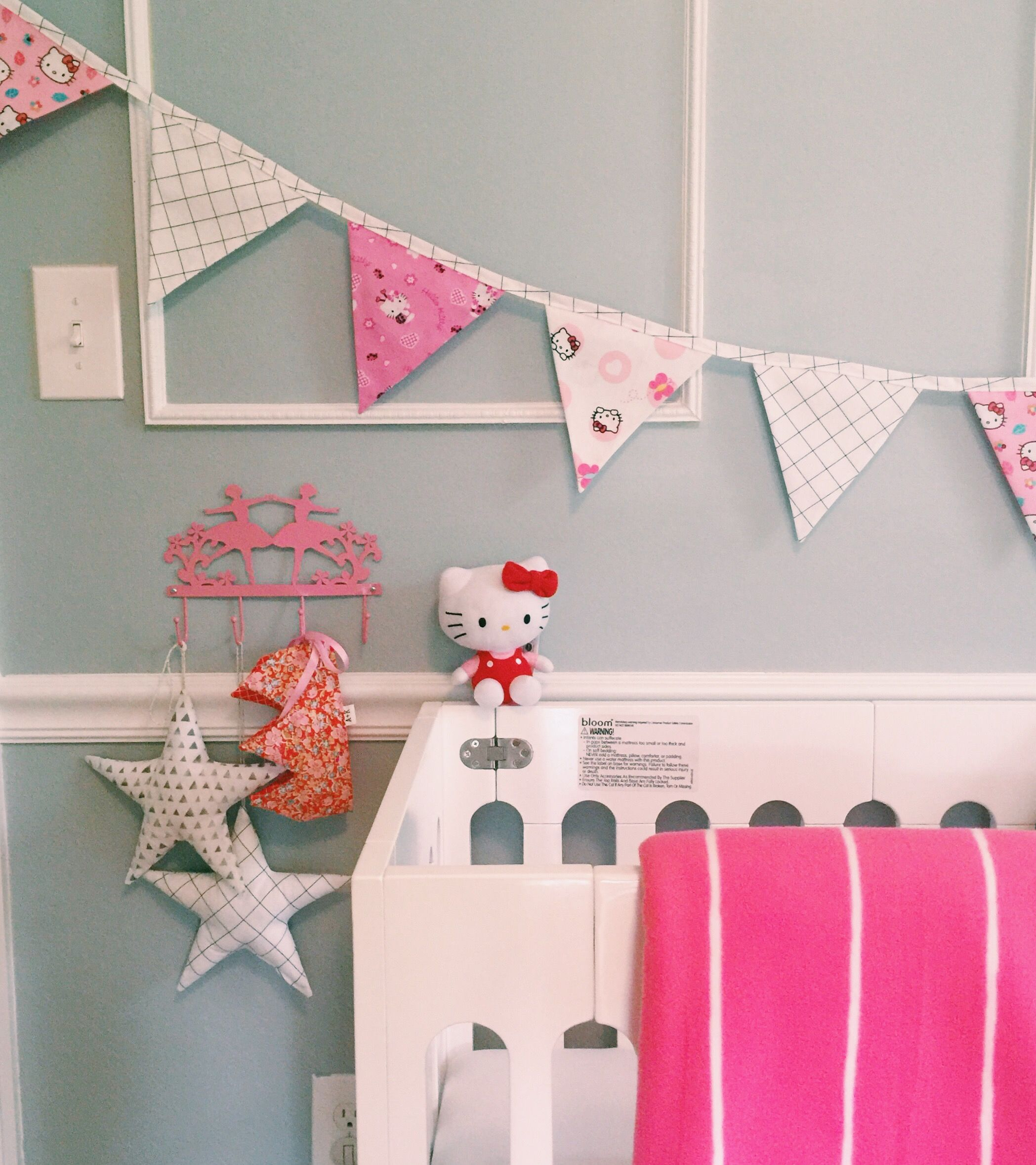 Hello Kitty Banner Hello Kitty Room For Little Girls Kids