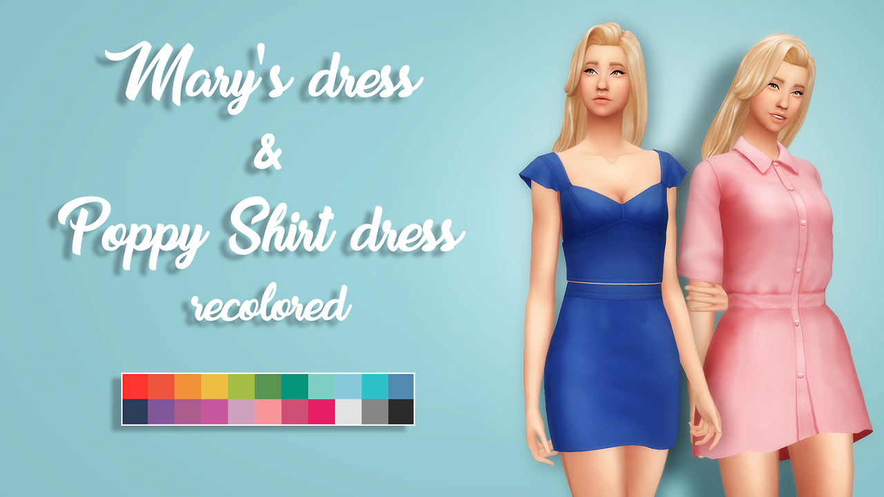 sims 4 mm cc maxis match dress recolours