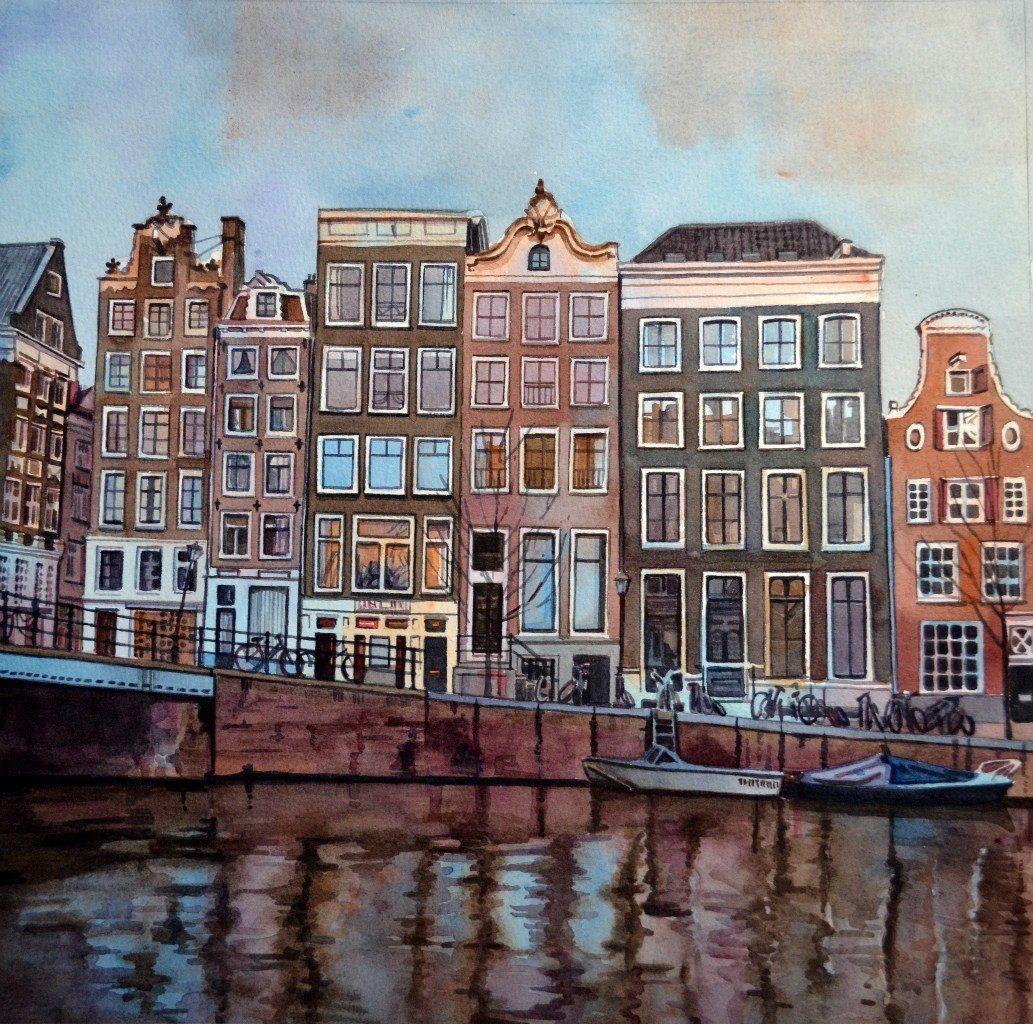 Картинки амстердама акварель
