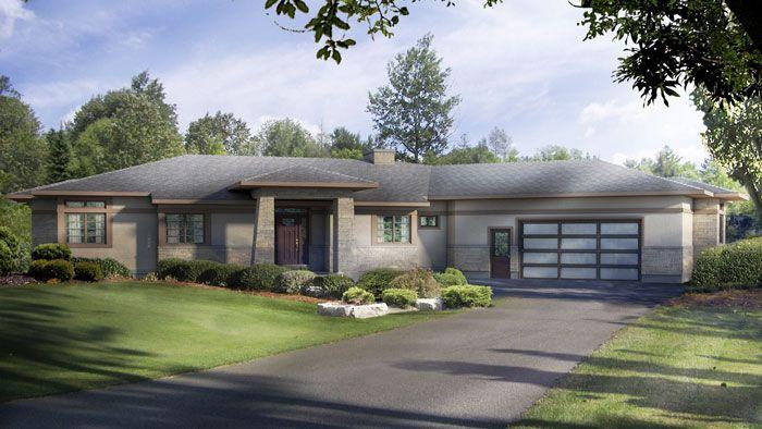 1 3 fachada plano de casa grande 3 dormitorios 1 piso - Planos de casas grandes ...