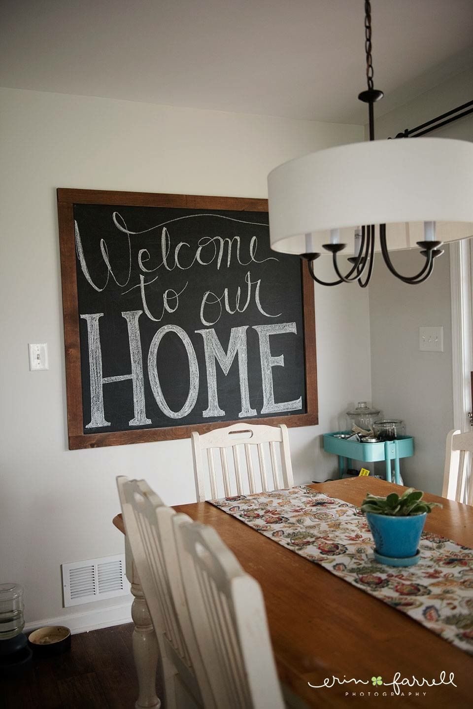 Chalkboard Art Welcome To Our Home Large Chalkboard In Kitchen Chalkboard Quotes Chalkboard Art Kitchen Chalkboard Home Decor