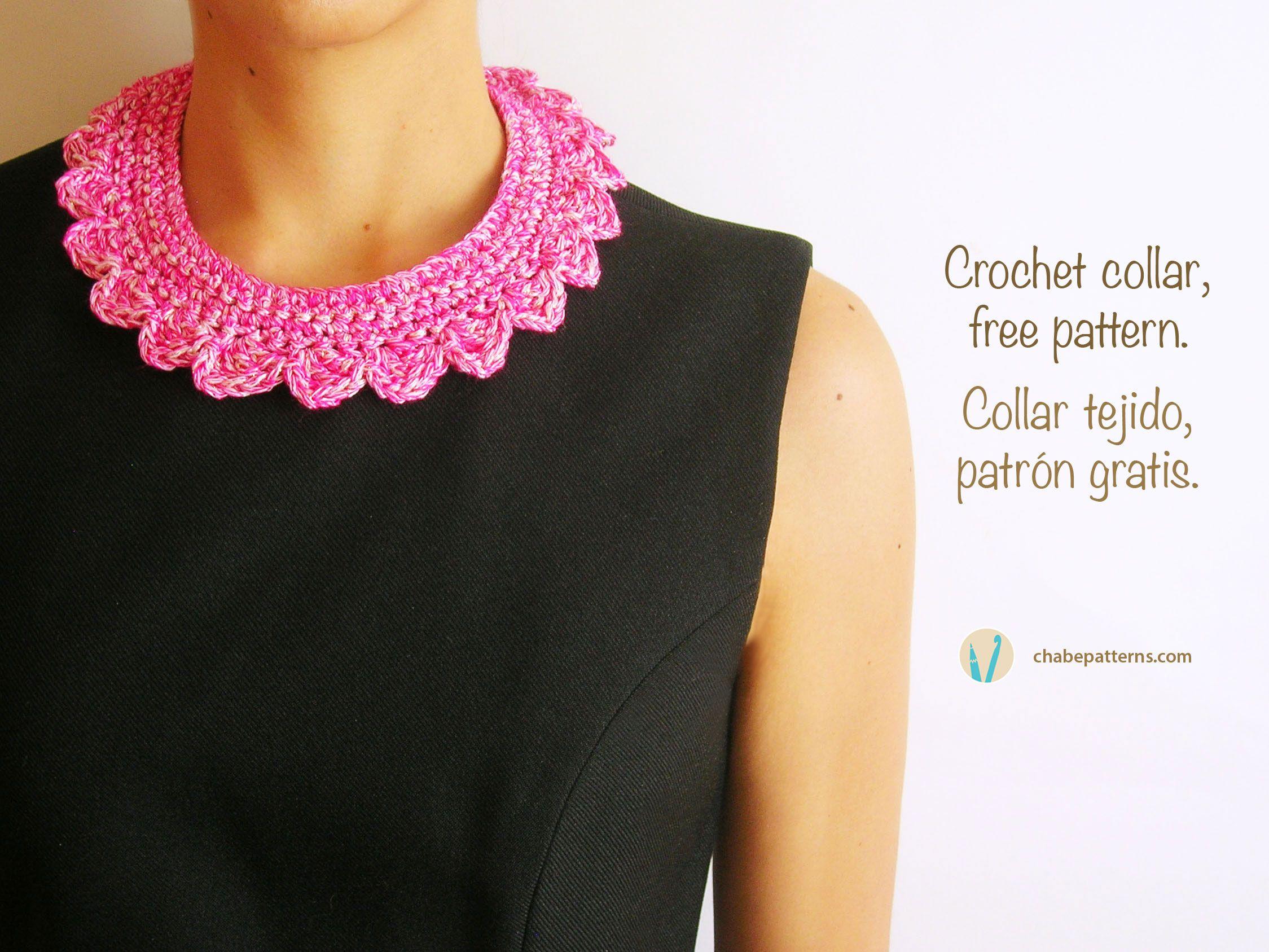 Crochet collar/ Collar tejido | Chabepatterns | Colares ganchillo en ...