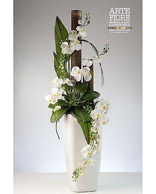 Come fare composizioni con fiori artificiali cerca con for Orchidea finta