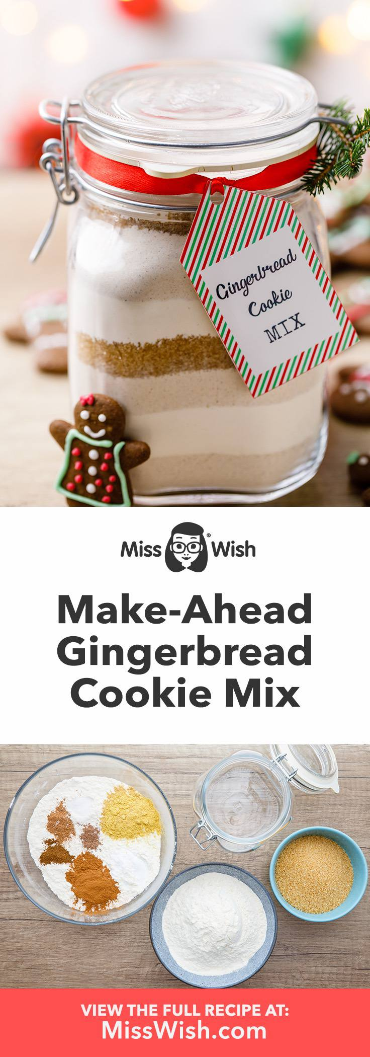 How to Make Gingerbread Cookie Mix From Scratch - Miss Wish #gingerbreadcookies