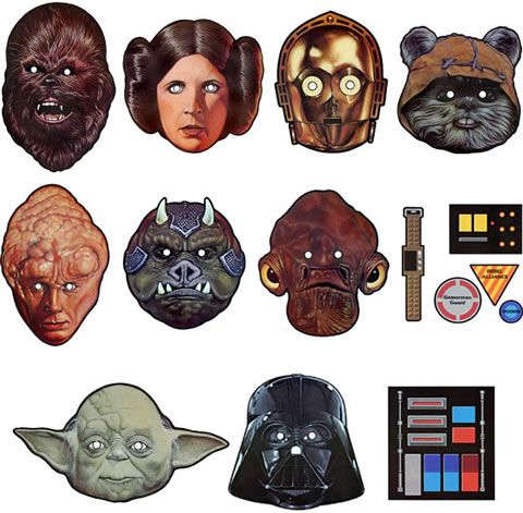 photo relating to Star Wars Printable Masks named Pin upon birthday get-togethers