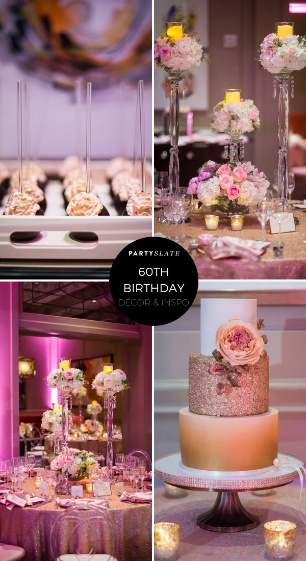 A Pretty In Pink 60th Birthday Party Was Filled Gorgeous Florals Dazzling Blush Linens And Even Desserts To Match