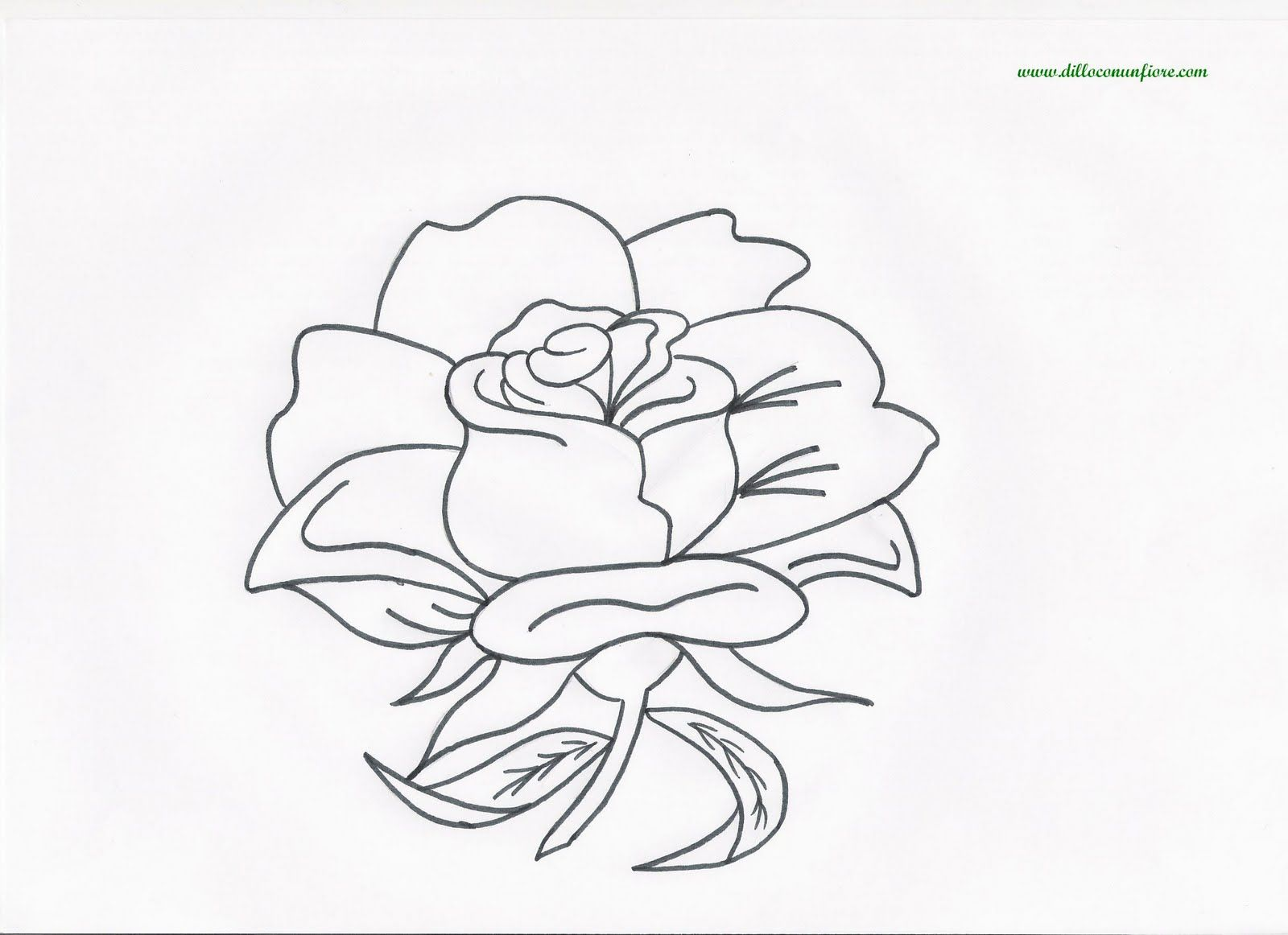 Say It With Flowers Free Flower Coloring Pages
