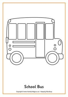 School Bus Colouring Page 2 With Images School Coloring Pages