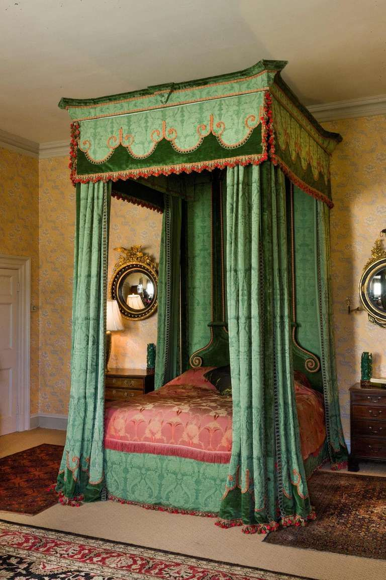 Imposing 17th Century Style Four Poster Bed From a