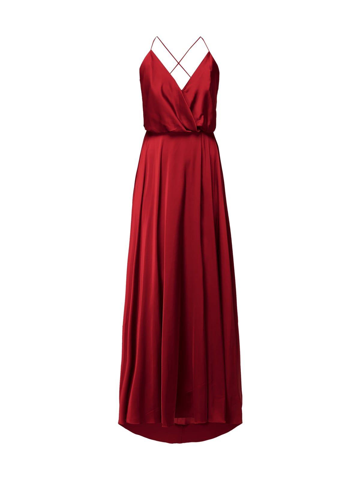 unique abendkleid aus satin in rot online kaufen (9943452