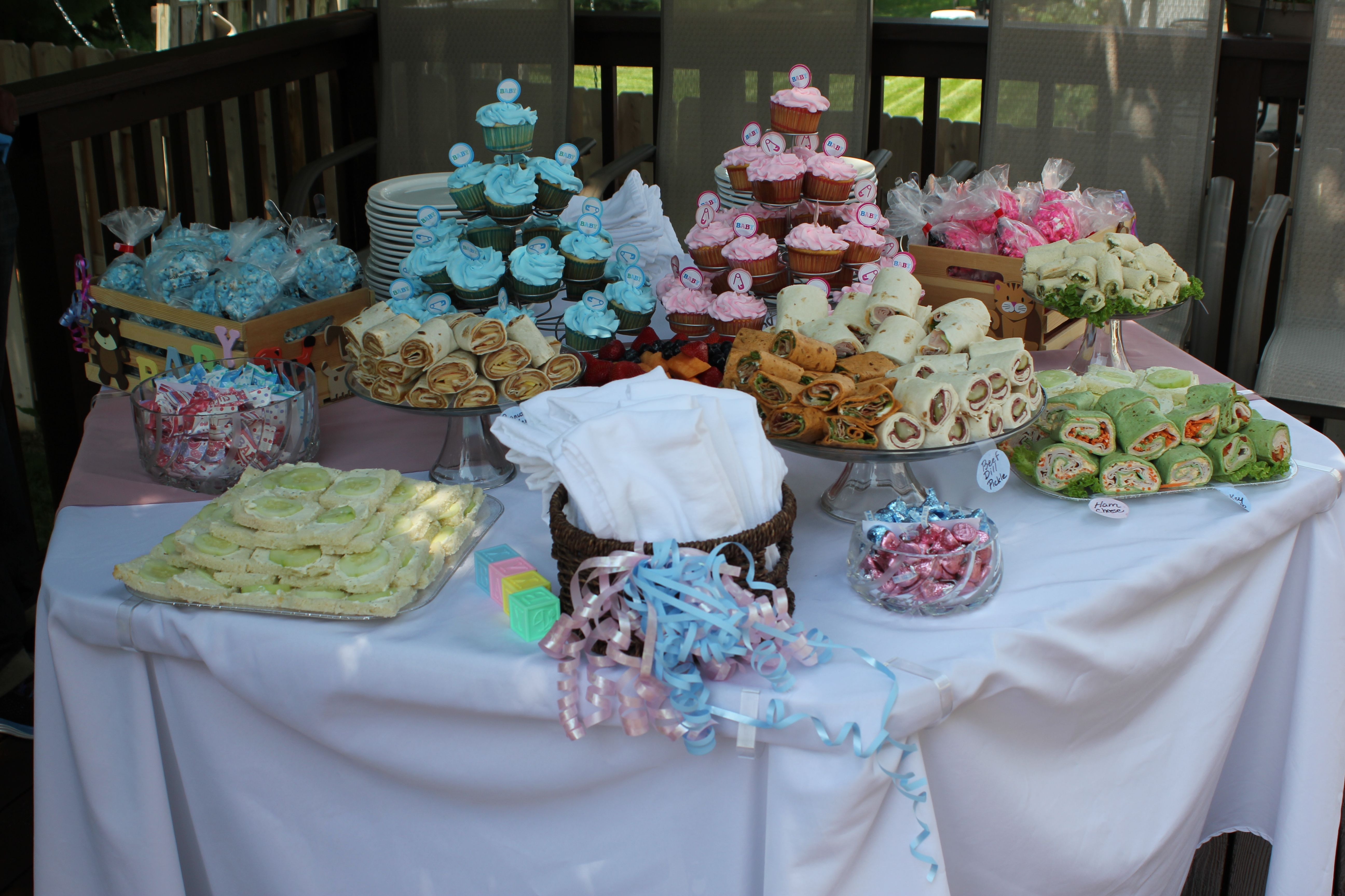 Gender Reveal Party food table Gender Reveal Party