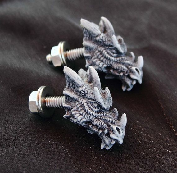Dragon handles, Cabinet Knobs, License plate holders | Home Ideas ...