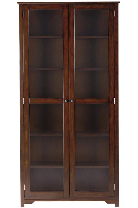 Home Decorators Collection Oxford Black Glass Door Bookcase Glass