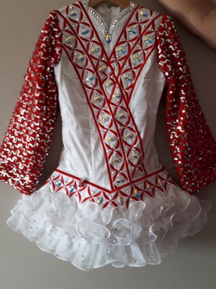 Adorable Red Gavin Doherty Irish Dance Dress Solo Costume For Sale