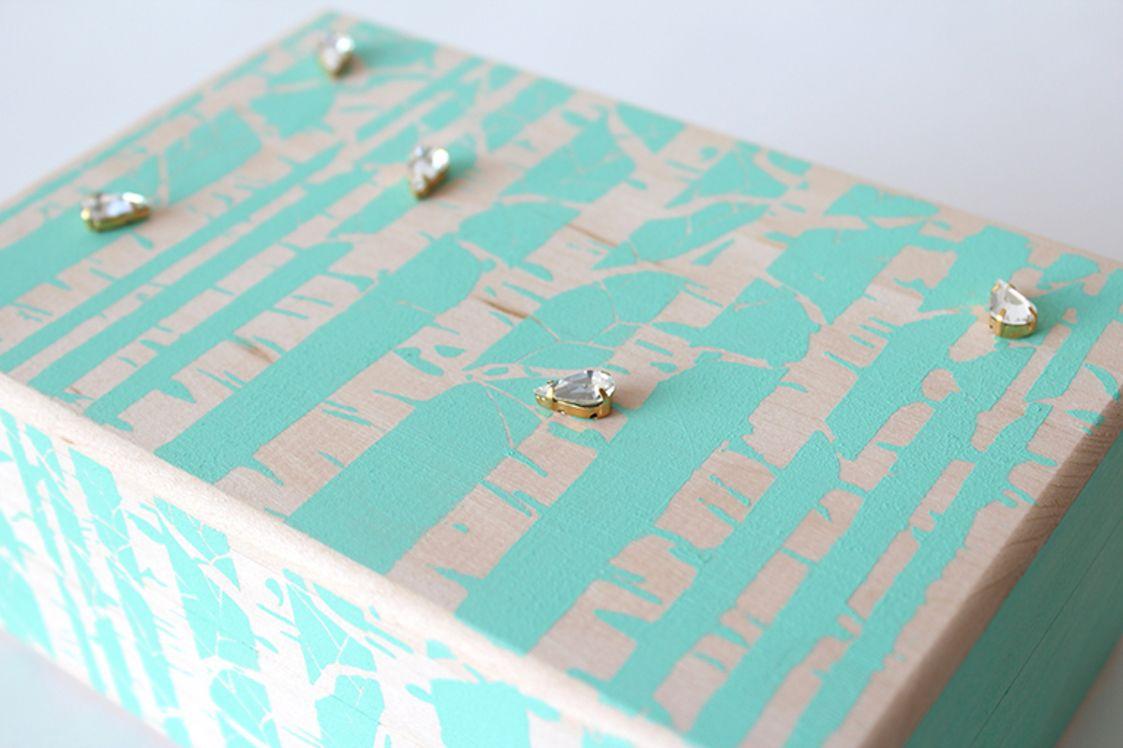 DIY Painted Jewelry Box | Darby Smart | Decor | DIY ...