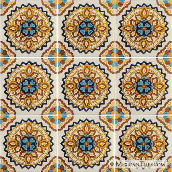 Mexican Tile Palermo 4 Terra Nova Hacienda Ceramic Tile Handcrafted Ceramic Tile Ceramic Tiles Mexican Tile