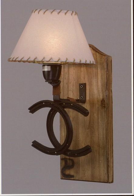 lampara con herradura Artesanías rusticas Pinterest Hierro