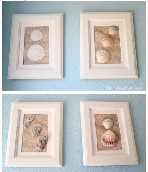 Diy Framed Shell Art Sea Shell Decor Seashell Wall Art Seashell Projects