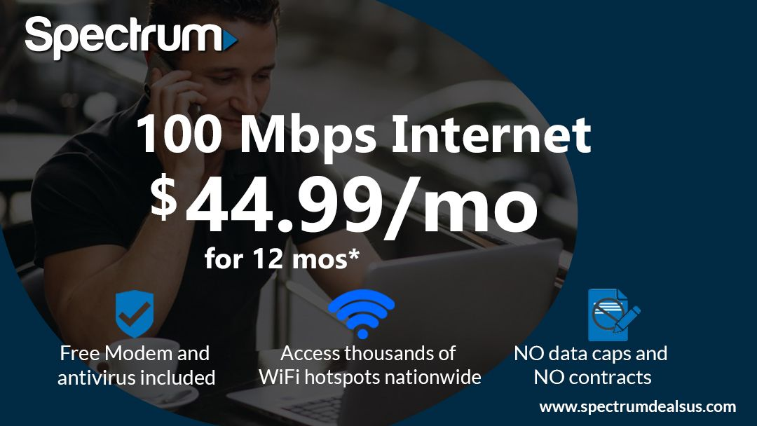 No data caps and fast speeds internet? Spectrum's got them  Get the