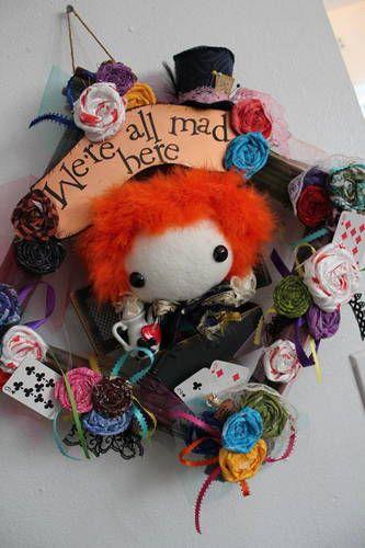 mad hatter wreath