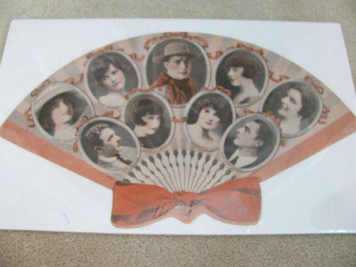 Antique Movie Star FAN WM S Hart John Barrymore Dorothy Gish ETC Silent Film Stars