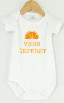 Aparte Babykleding.Rompertje Vers Geperst Grappig Rompertje Met Origineel Lvly